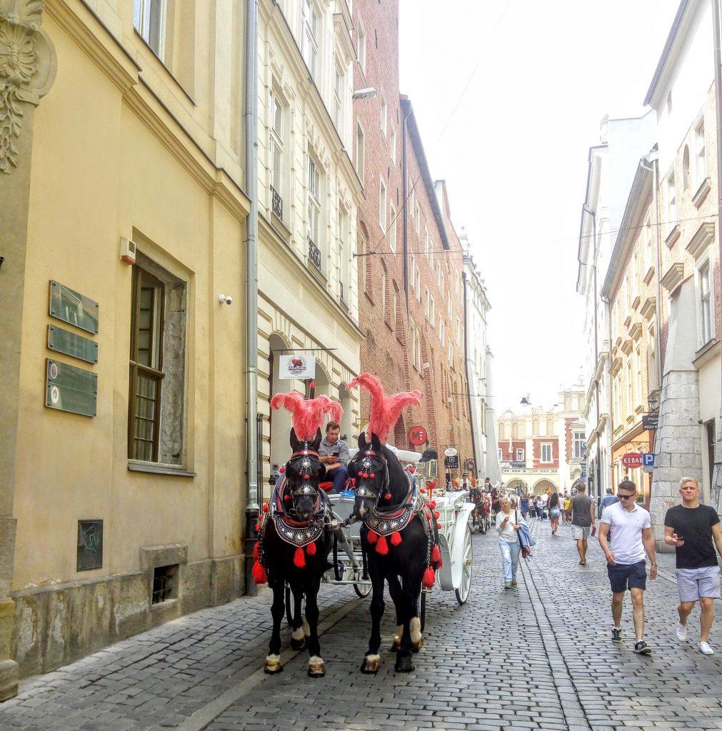 Карета на вулиці Кракова