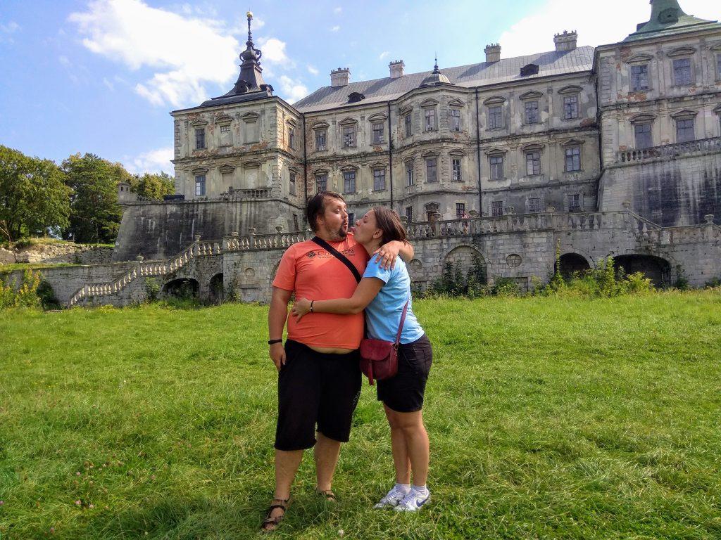 На фоні Підгорецького замку